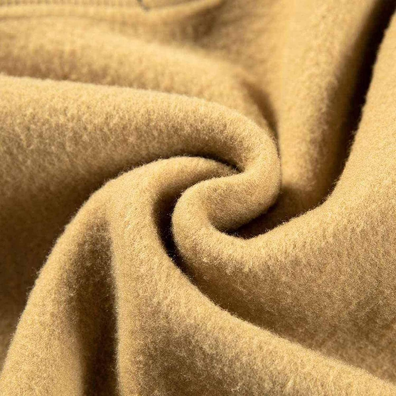 Men's Novelty Color Block Warm Pullover Quick Dry Fleece Hoodies Long Sleeve Casual Sweatshirt With KangaPocket
