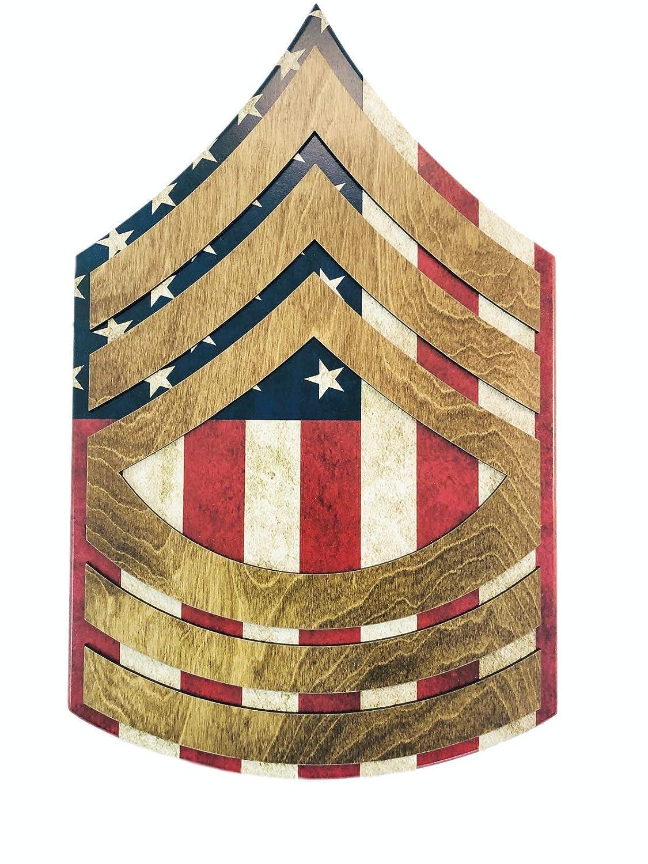 U.S. Army Rank Ranking TOP14 Wall Hanging E-8 Raised MSG Stripes - Over item handling