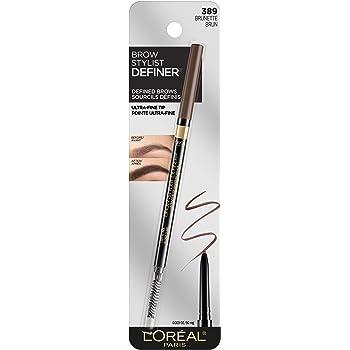 L'Oréal Paris Makeup Brow Stylist Definer Waterproof Eyebrow Pencil, Brunette, 0.003 oz.