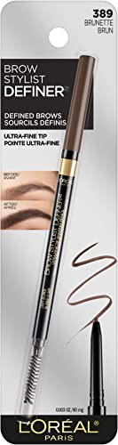 L'Oreal Paris Makeup Brow Stylist Definer Waterproof Eyebrow Pencil, Ultra-Fine Mechanical Pencil, Draws Tiny Brow Ha...