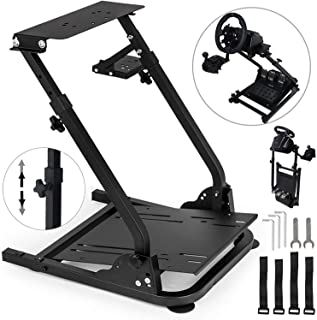 Marada Racing Game Wheel Stand Apply to G27 G25 G29 G920 Wheels Stainless Steel Driving Simulation Wheel Stand Without Wheel and Pedals