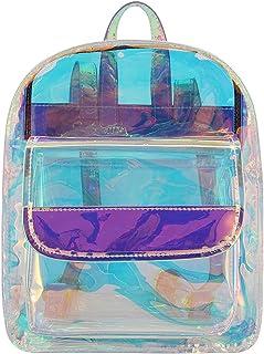 Segreto Damen Glänzend Hologramm Hologramm Transparent Schultertasche Satchel Rucksack