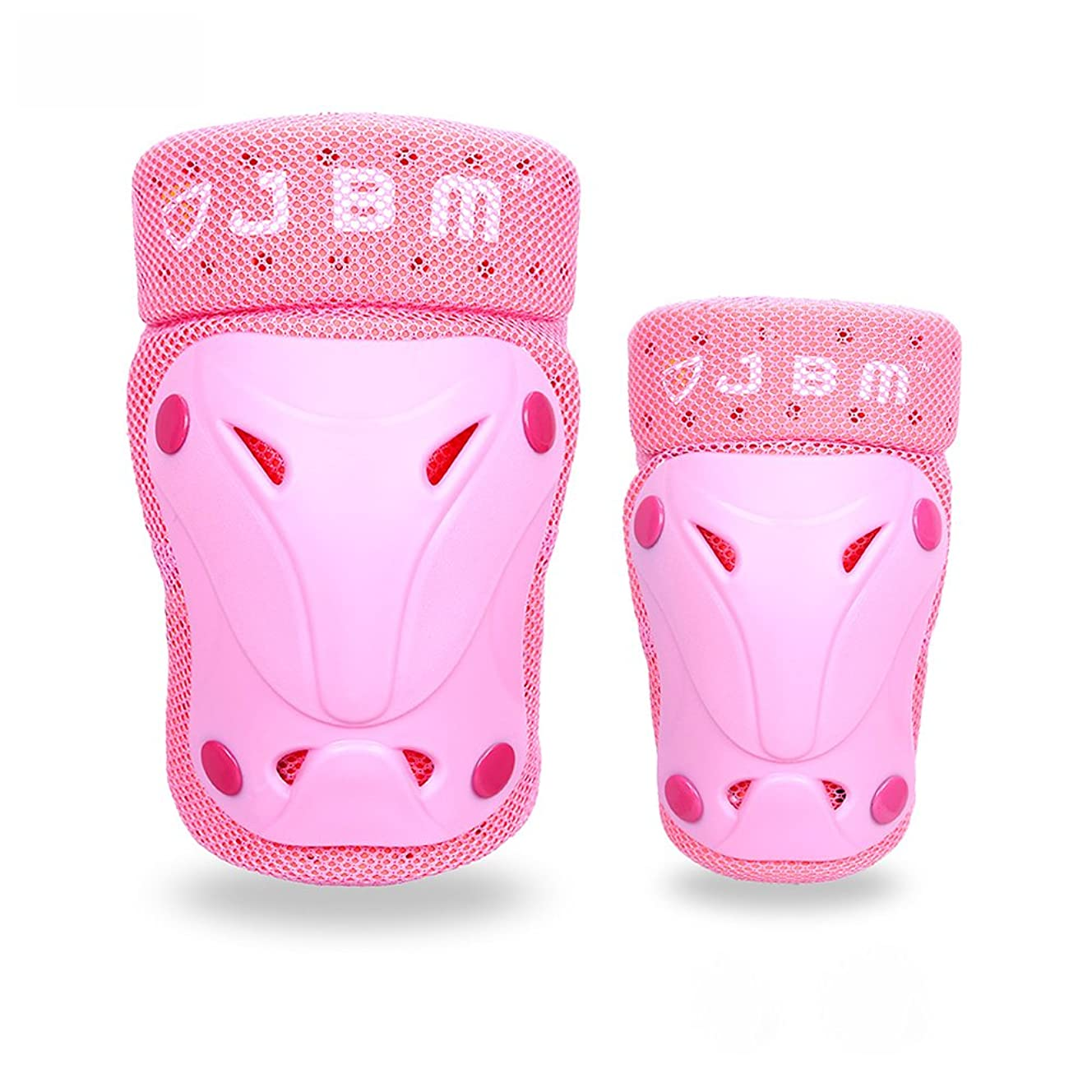 JBM Child Kids Bike Cycling Bicycle Riding Protective Gear Set, Knee and Elbow Pads with Wrist Guards Toddler for Multi-Sports Outdoor Activities: Rollerblading, Skating, Football, Volleyball, BMX