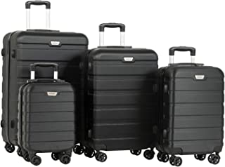 Murtisol 4 Pieces ABS Luggage Sets TSA Lightweight Durable Spinner Suitcase Aluminum Retractable Handle 16