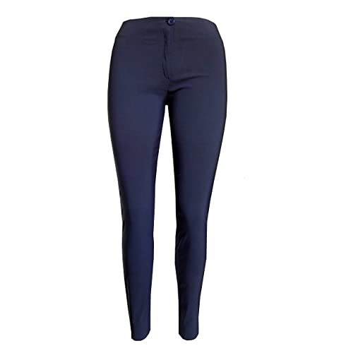 Girls Womens Premium Quality Smart Adjustable Waist School Uniform Trouser UK
