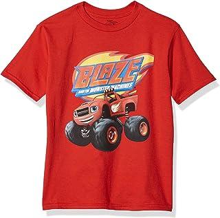 Nickelodeon Boys' Little Blaze & The Monster Machines Rev Up Short Sleeve Tee