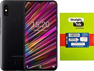 Straight Talk Phone + SIM Card Bundle, 4GB + 128GB 6.3 inch Display Unlocked Android 9.0 Fast Charging 5150mAh Battery NFC - Black