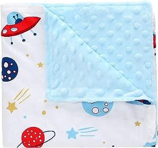 Miracle Baby Manta Coralina Bebe Algodón,Manta Bebe Invierno Suave y Confortable,Swaddle Wrap Saco de Dormir para Niños 78 * 102(Pequeño,Astronave)