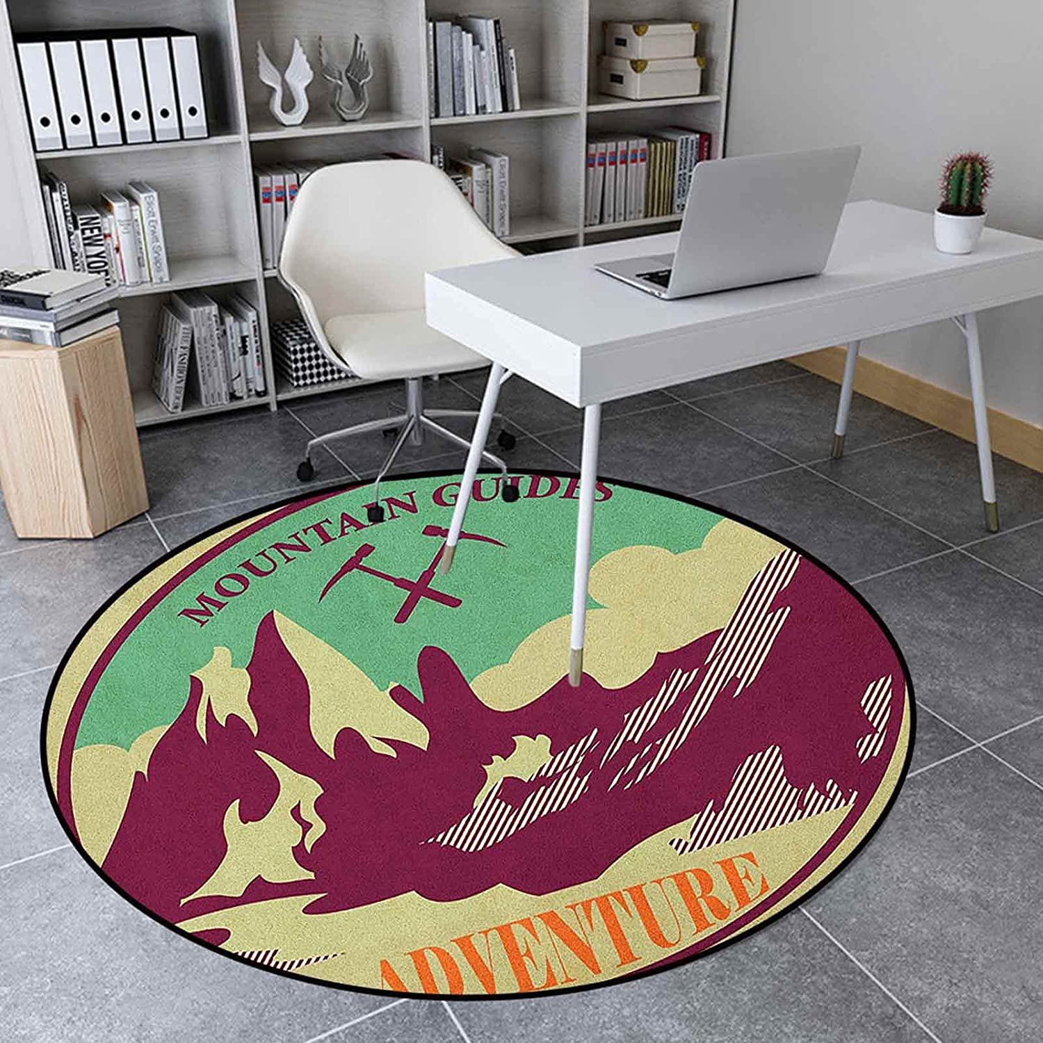 Adventure Round Challenge the lowest price of Japan ☆ Area Free shipping New Rug 3.9 Ft Living Inches Room Rugs Jo for