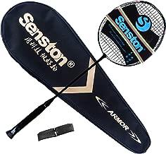 Senston N80 Graphite Single High-Grade Badminton Racquet, Professional Carbon Fiber Badminton Racket, Carrying Bag Included
