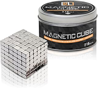 R&L Magnetic Cube,216PCS + 6 Magic Cubes Building Blocks Educational Toys Stress Relief Toy Games Square Cube Magnets develops Intelligence (5MM)