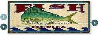 OldWoodSigns ビンテージスタイル装飾サイン - Catch of The Day 海水釣りサイン - Maissenburg Designs 14 x 36 302S-Mahi