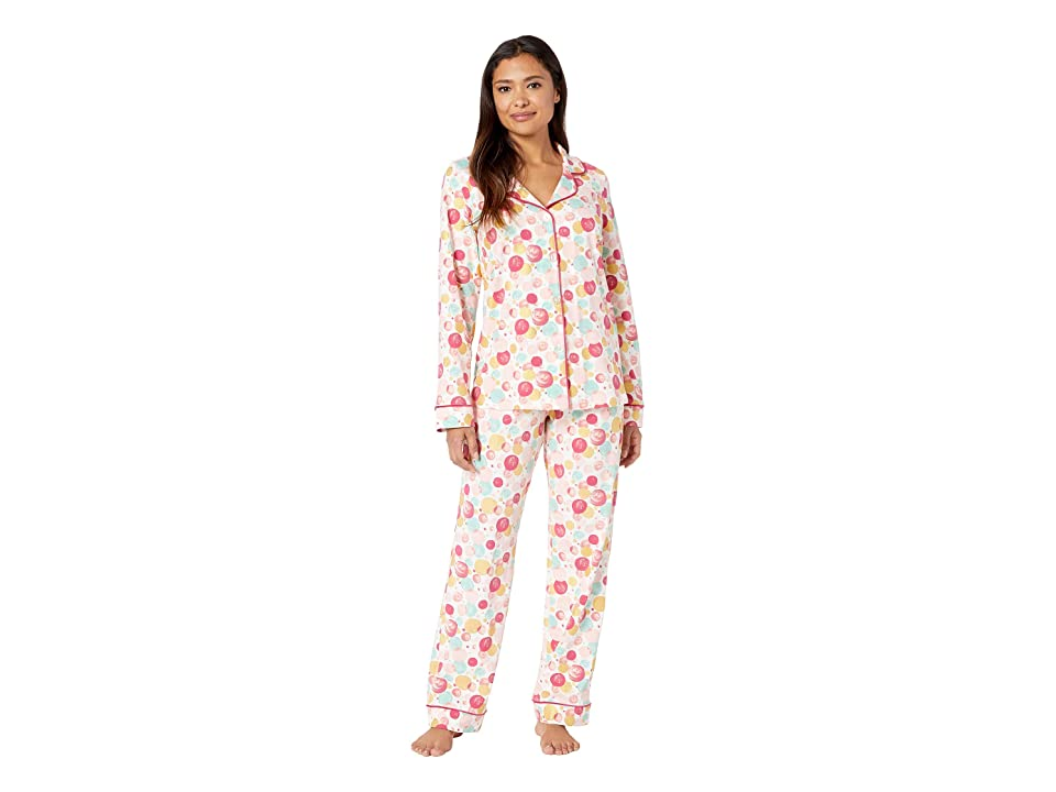 BedHead Long Sleeve Classic Notch Collar Pajama Set (Sparkling Bubbles) Women