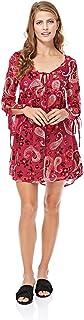 GLAMOROUS Women's Pink Paisley Devore Dress S