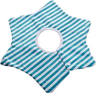 Generic Baby 360 ° Bib Scarf 100% Cotton Bib Scarf Towel Saliva Bandana Round Simple Pattern - Sky blue