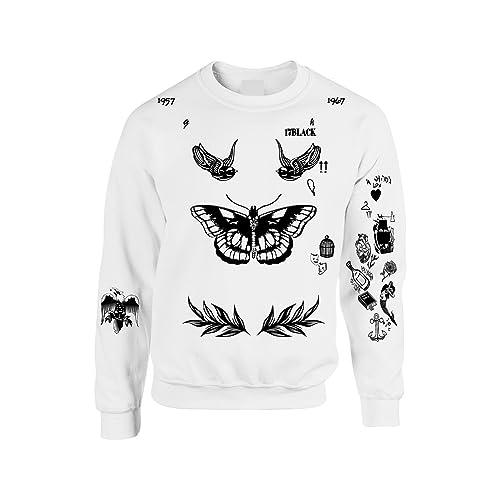 Allntrends Womens Sweatshirt 1D Harry Style Medium White