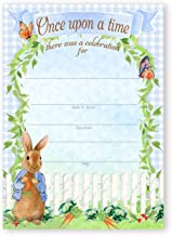 POP parties Peter Rabbit Party Large Invitations - 10 Invitations 10 Envelopes - Baby Shower Invitations - Birthday Invitations