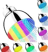 رأس دش LED من وايدا، 7 ألوان أضواء تلقائية متغيرة للحمام، تركيب خالٍ من الأدوات، ضغط عالي هادئ للغاية للأطفال والكبار