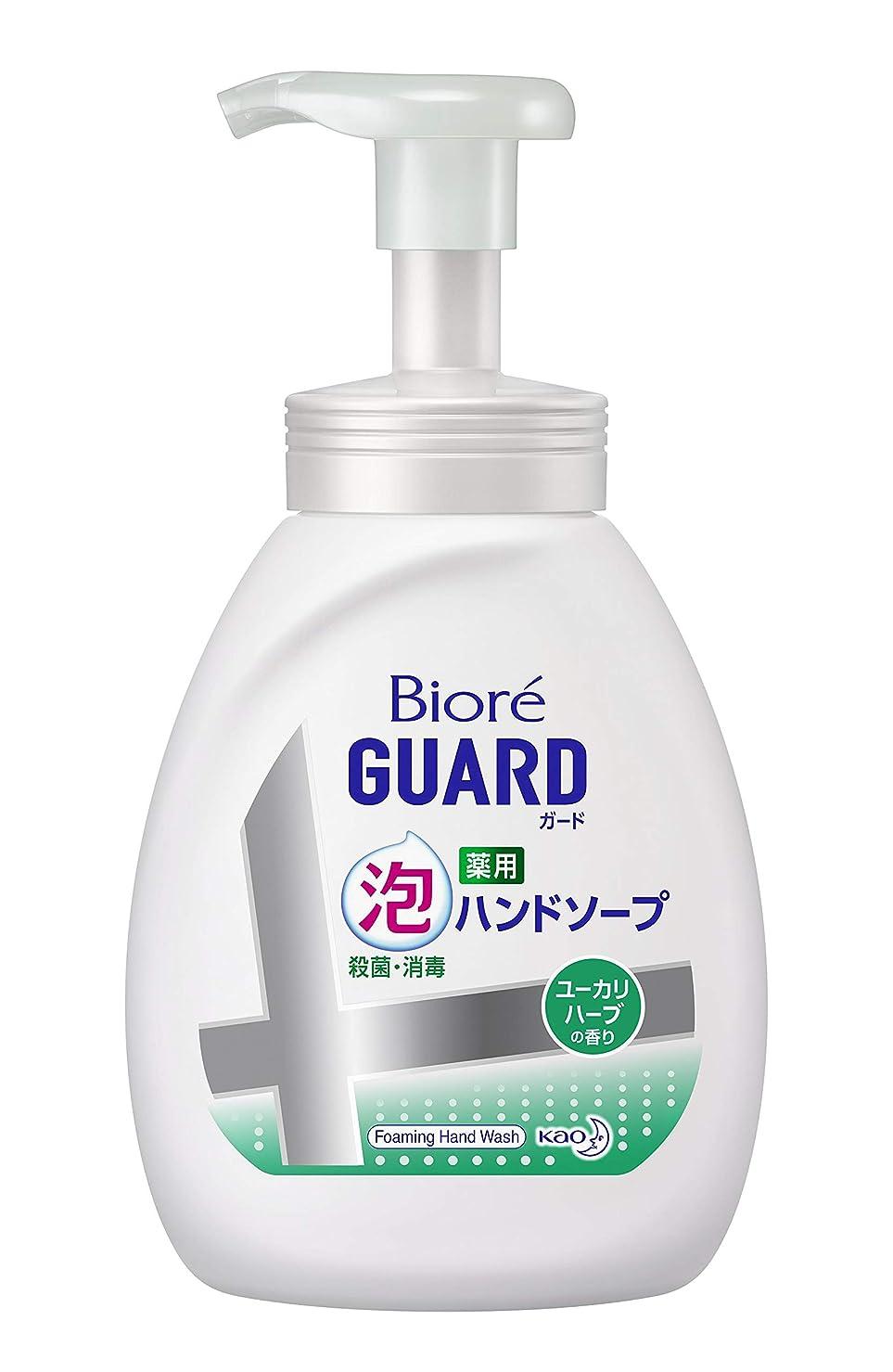 種類船尾政令【大容量】 ビオレガード薬用泡ハンドソープ ユーカリハーブの香り ポンプ 500ml