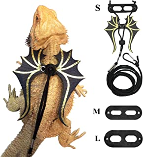 Bearded Dragon Lizard Leash Harness - 3 Size Pack Dinosaur Wing Lizard Harness Leash for Bearded Dragon Lizard Reptiles