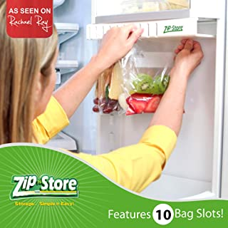 Zip n Store - Organize Your Refrigerator - Easy Store Door Organizer - Organizes 10 Bags, Perfect For Leftovers, Easy To See + Access Food, Installs In 2 Minutes