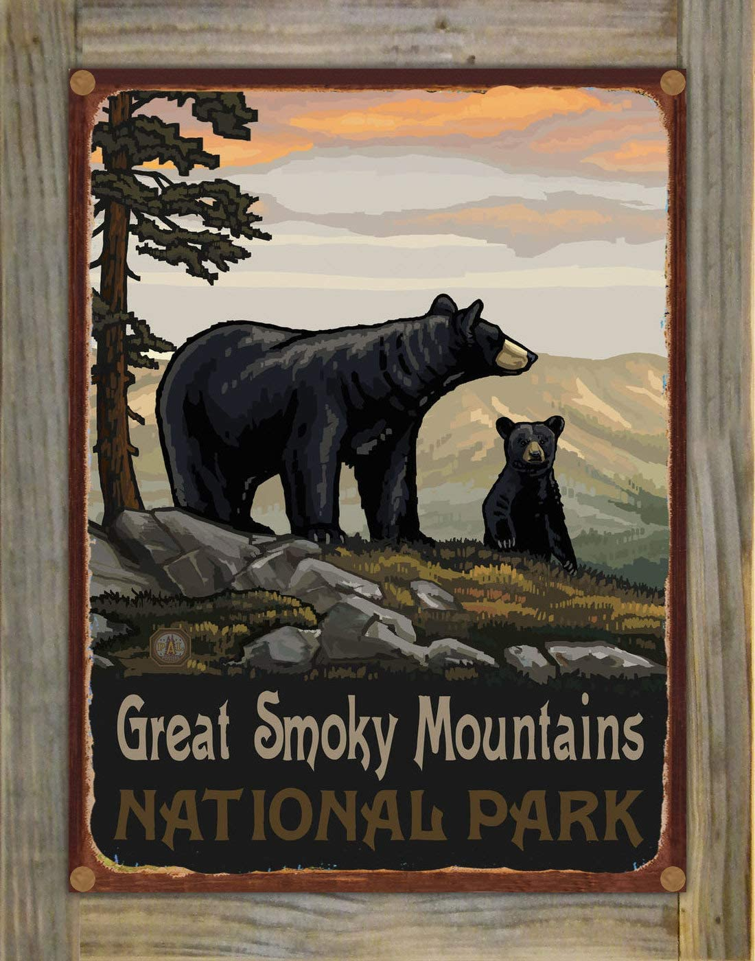 Great Smoky Max 45% OFF Mountains National cheap Park Black Met Family Bear Rustic