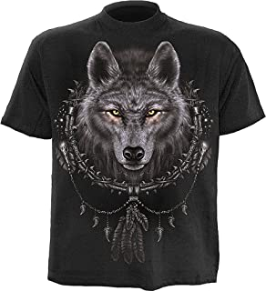 Mens - Wolf Dreams - T-Shirt Black