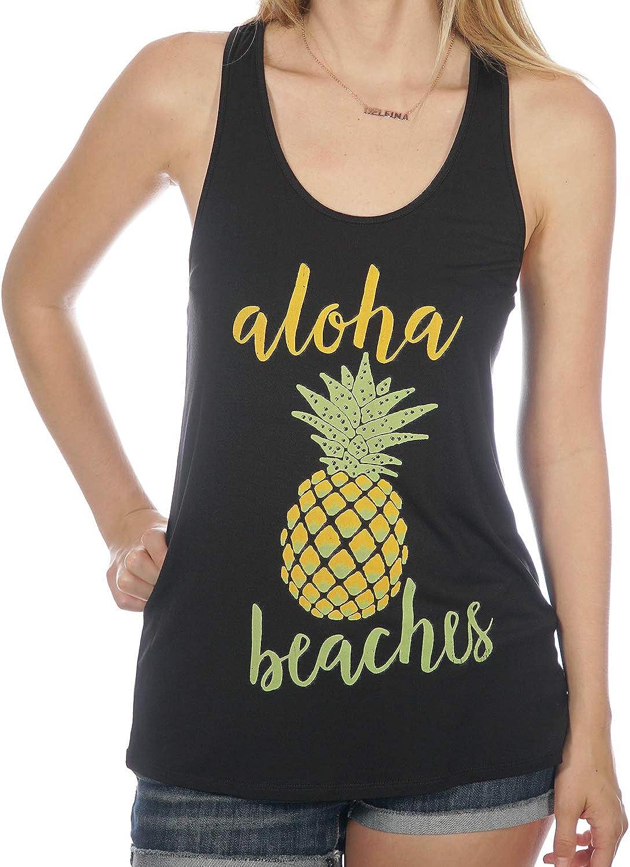 Shop Delfina Aloha Beaches Pineapple Brand Cheap Sale Max 55% OFF Venue Tropical Top Tank Hawaiian