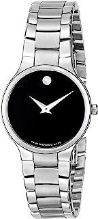 Movado - 606383 0606383 - Reloj para Mujeres, Correa de Acero Inoxidable Color Plateado