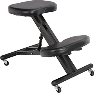 ZENSTYLE Ergonomic Kneeling Chair Posture Office Orthopedic Chairs Ergo Knee Stool for Work Desk with Height Adjustment,Thick Cushion Pad,Wheels