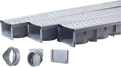 Drainage Trench - Channel Drain With Galvanized Steel Grate - 3 x 39
