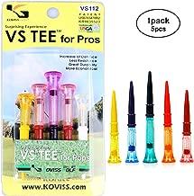 koviss Flexible Original Pro Spring VS Golf Tees 84(1ea),76(2ea),68(2ea) mm 5pcs Set
