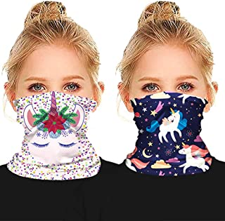 Fun Patterns Seamless Face Bandana for Kids Boys Girls, Cooling Neck Gaiter Sun Protection Mouth Cover Rave Balaclava