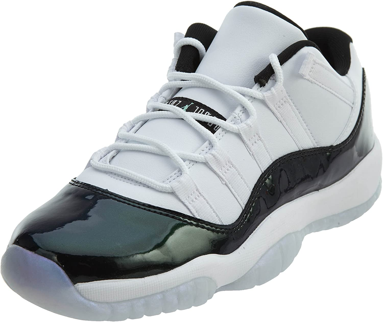 Amazon.com | Jordan Retro 11 Low Easter White/Black-Emerald Rise ...