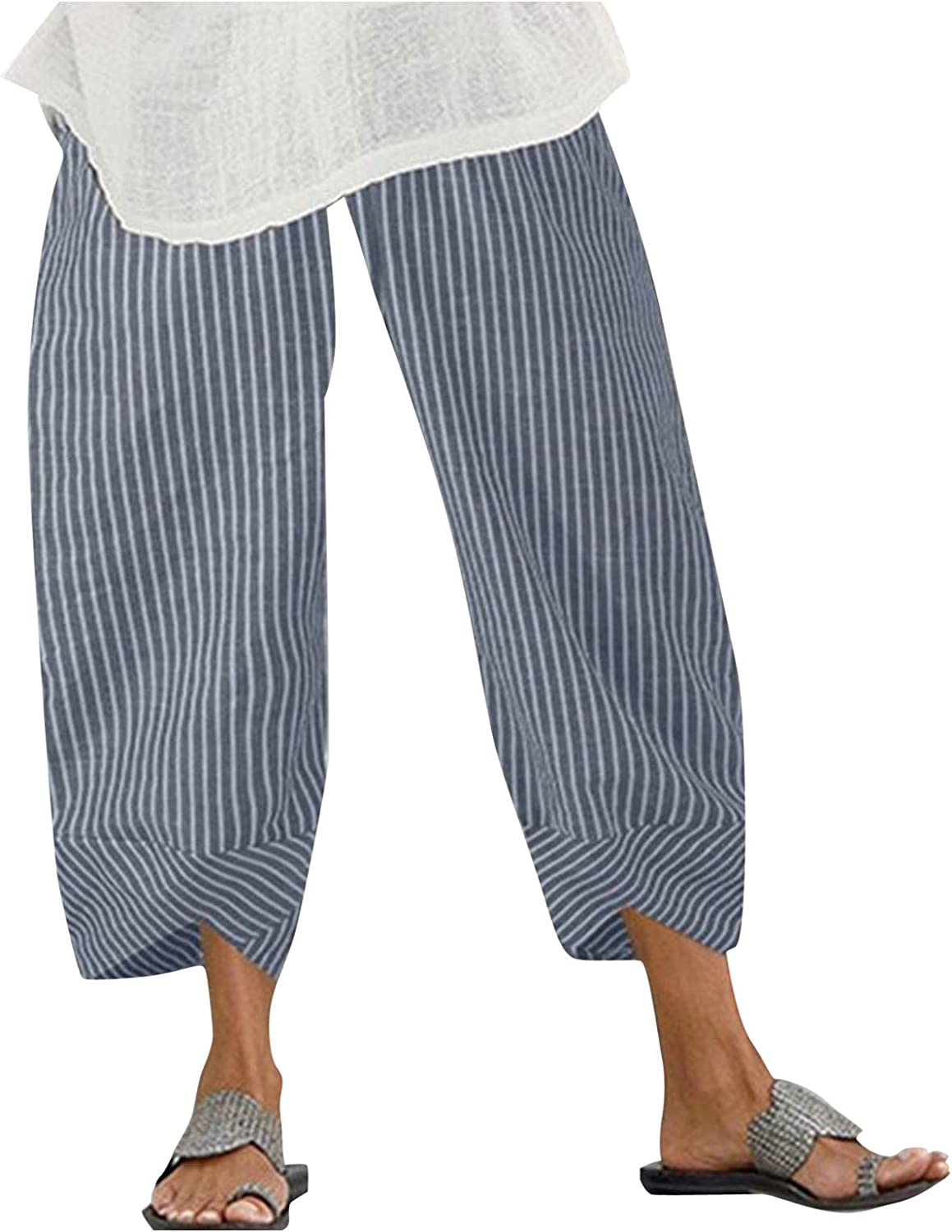 Houshelp Womens Summer Casual Direct sale of manufacturer Ranking TOP7 Loose Boh Cotton Baggy Linen Pants