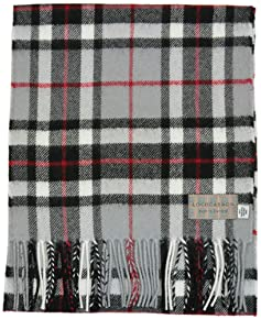 Lochcarron of Scotland Tartan Scarf: Grey Thompson