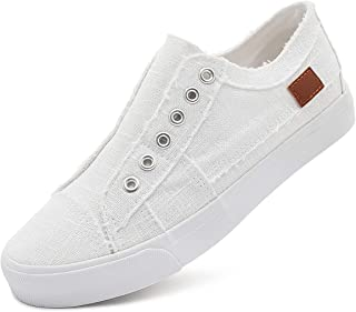Women's Slip on Shoes Fashion Canvas Sneakers Low Top...
