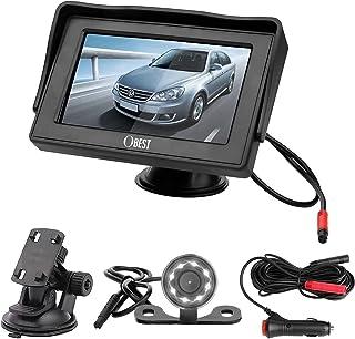 """$35 » Backup Camera and Monitor Kit, 4.3"""" LCD Display Night Vision Rear View Reverse Camera Waterproof for Car SUV Van, Easy Ins..."""