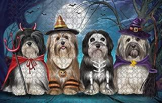Happy Halloween Trick or Treat Havaneses Dog Puzzle with Photo Tin PUZL85584 (1000 pc. 20