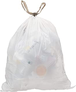 AmazonCommercial 18 Gallon Trash Compactor Bags /w Drawstrings – 2 MIL – 50 Count