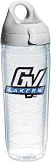 Tervis 1073560 Grand Valley State University Emblem Individual Water Bottle with Gray lid, 24 oz, Clear