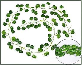 5 stks 2m lange simulatie planten groene klimop blad nep druiven wijnstok kunstbloem string gebladerte verlaat thuis bruil...