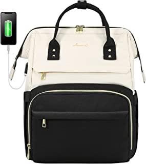 LOVEVOOK کوله پشتی لپ تاپ برای خانم ها مد کسب و کار کوله پشتی مسافرتی کیف های مسافرتی کیف دانش آموزی کیف دانش آموز معلم دکتر پرستار کوله پشتی کار با پورت USB ، مناسب لپ تاپ 15.6 اینچی بژ مشکی