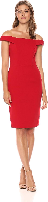 Carmen Marc Valvo Infusion Womens Crepe Dress Dress