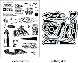Numkuda Lighthouse DIY Cutting Dies Stencil DIY Scrapbooking Embossing Paper Card Decor