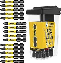 15 x SabreCut SCRPH25015B 50 mm PH2 magnetyczny śrubokręt udarowy zestaw bitów w pudełku TIC TAC z pojedynczym zakończenie...