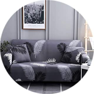 Elegant Modern Sofa Cover Spandex Elastic Polyester Floral 1/2/3/4 Seater Couch Slipcover Chair Living Room Furniture Protector,Model 9,3 Seat (190-230cm)