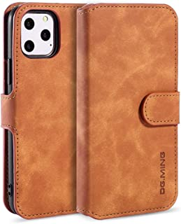 Protect Your Phone, Retro Oil Side Horizontal Flip Case with Holder & Card Slots & Wallet for iPhone XI Max (2019) for Cellphone. (Color : Brown)