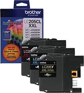 Brother Genuine Super High Yield Color Ink Cartridge, LC2053PKS, Replacement Color Ink Three Pack, Includes 1 Cartridge Ea...