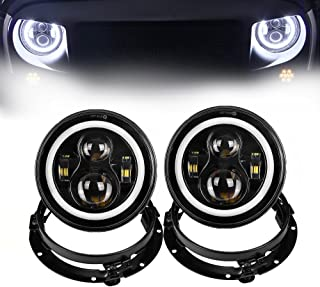 Color : Red MMGgang Red Front Fog Light Lamp Cover Trim Frame Decor For Jeep Renegade Accessories